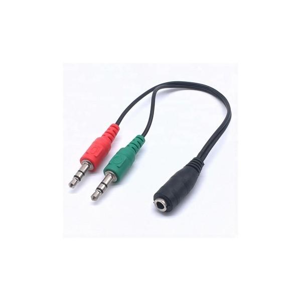 Cable de audio 3.5mm a 2x audio 3.5mm
