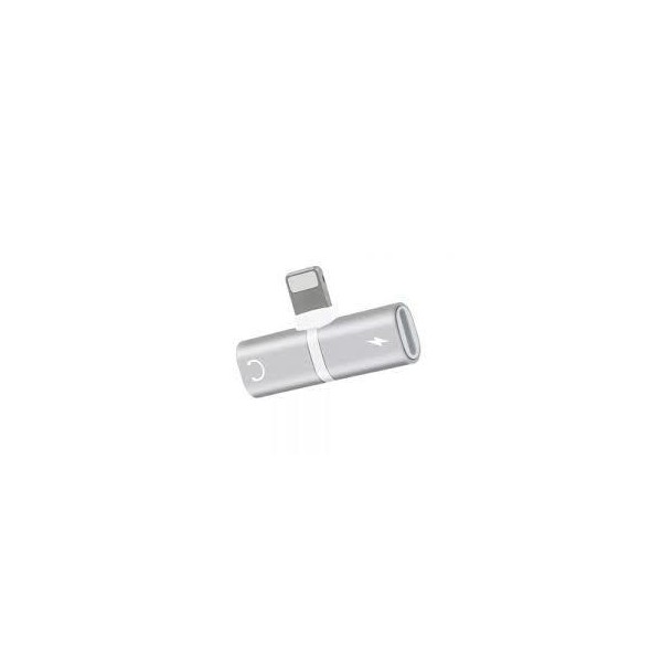 adaptador lightning 2 en 1 fujitel iphone