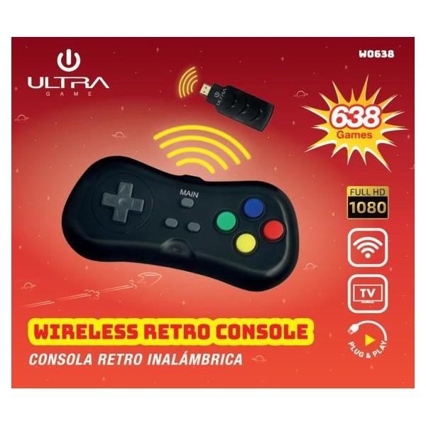 Newest Wireless Retro 638 Games Mini Vintage Retro TV Game Console Built-in 38/638 Games Av line