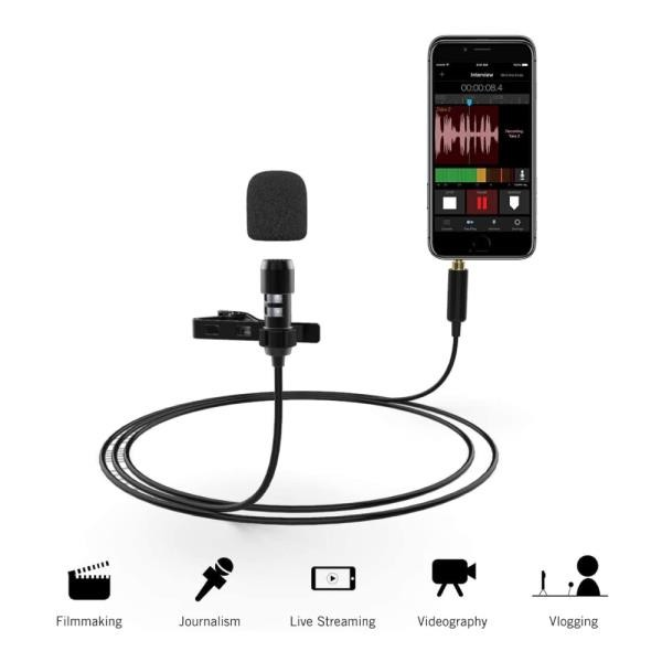MICROFONO Lavalier Fifine para iPhone/Android C2