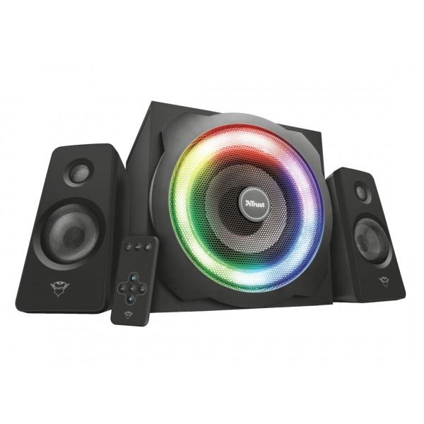 Parlante para PC Gamer Trust GXT 629 Tytan RGB Illuminated 2.1 120W Speaker Set, Subwoofer RGB