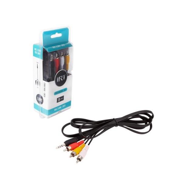 Cable AUX macho – 3 RCA macho 1.8 mts