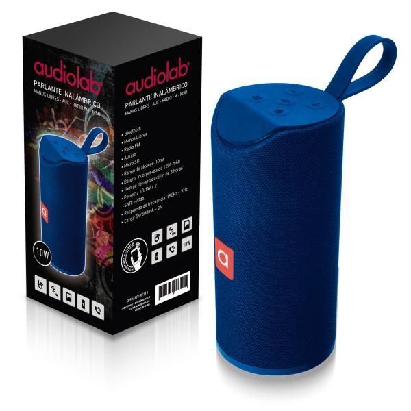 Parlante inalambrico audiolab azul